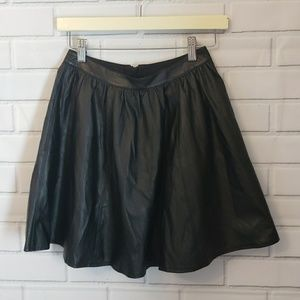 Decree faux leather lined skirt A-line shape Sm